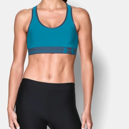 Under Armour Under Armour Mid-Impact Support Bra Pacific Blue - Large