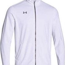 Under Armour Men's White Ultimate Team Softshell Jacket, White, XL