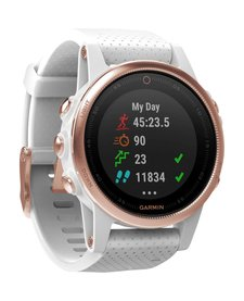 fēnix 5S Rose Goldtone  Sapphire with White Band