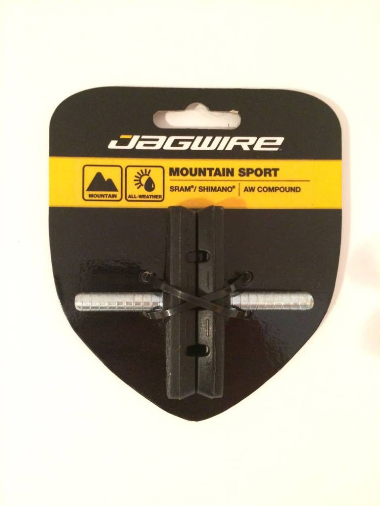 Jagwire Jagwire Mountain Sport Brake Pads Smooth Post 70mm Pad, Black