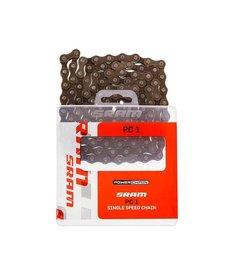 "SRAM PC-1 1/2"" x 1/8"" Chain Silver 114 Links"