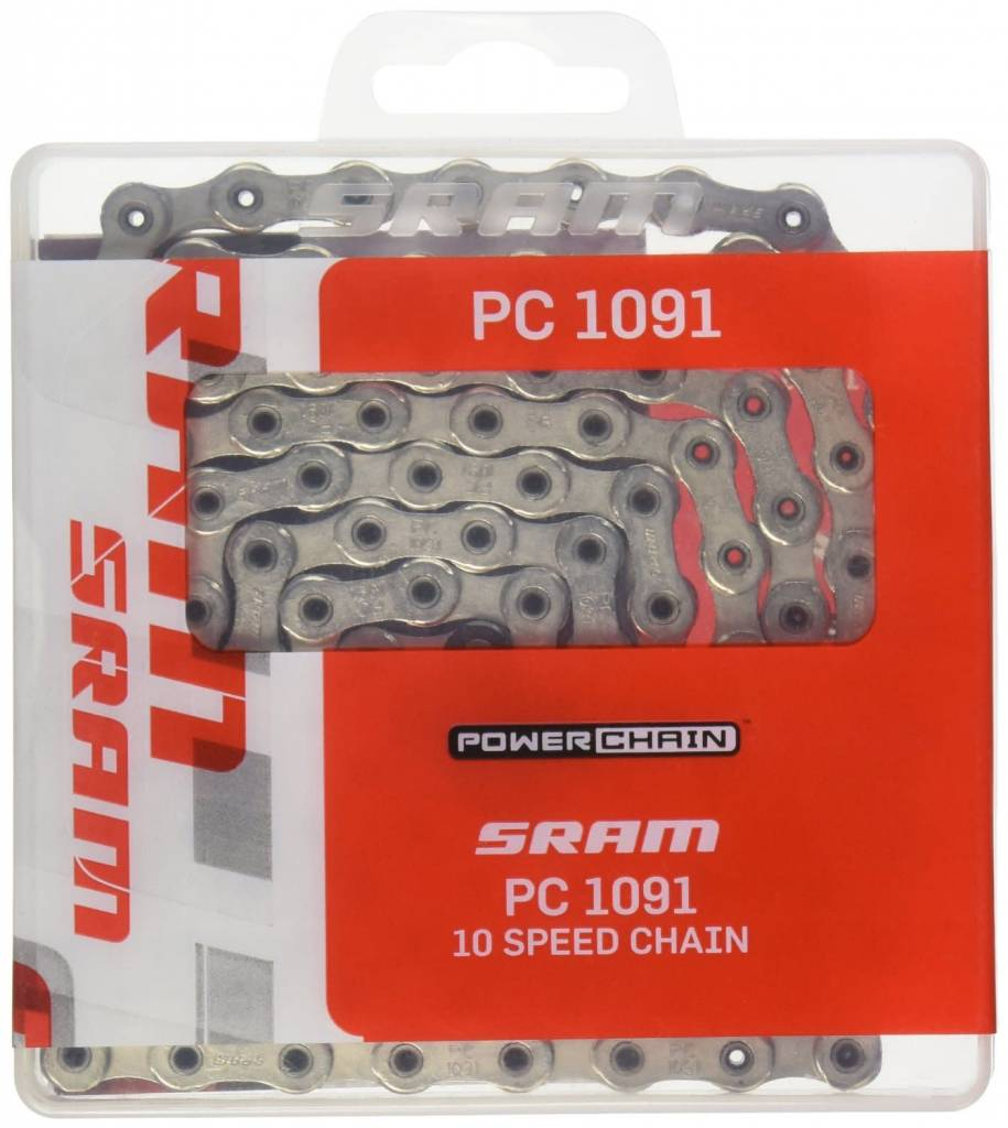 SRAM SRAM PC-1091R 10 speed Chain with PowerLock 114 Links