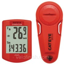 CatEye Strada Slimline Head Unit and Sensor: Red