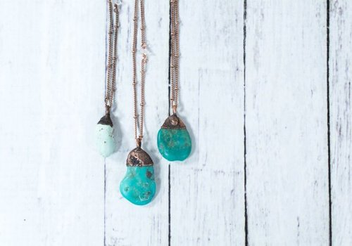 Hawk House Raw Turquoise Necklace