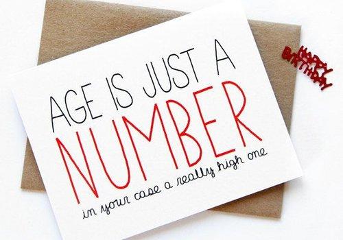 Julie Ann Art Age is Just a Number Card