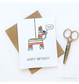 Julie Ann Art Birthday Pinata Card