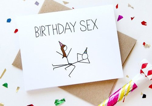 Julie Ann Art Birthday Sex Card