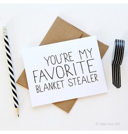Julie Ann Art Blanket Stealer Card