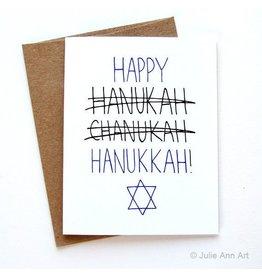 Julie Ann Art Happy Hannukah Card