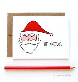 Julie Ann Art He Knows Card