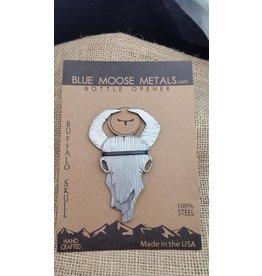 Blue Moose Metals Bison Skull Bottle Opener