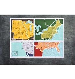 Brainstorm American Atlas Print