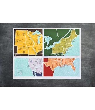 American Atlas Print