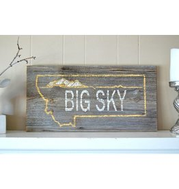 Salvage Signs Big Sky License Plate Sign