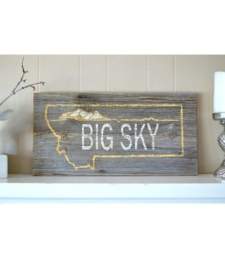 Big Sky License Plate Sign
