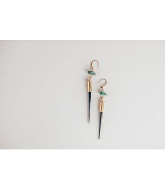 Townsend Collective Porcupine Quill + Turquoise Earrings