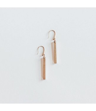Townsend Collective Short Brass Bar Earring