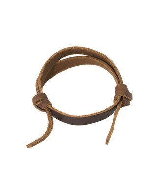Rustico Slide Leather Bracelet - Saddle