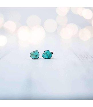 Hawk House Raw Turquoise Earrings
