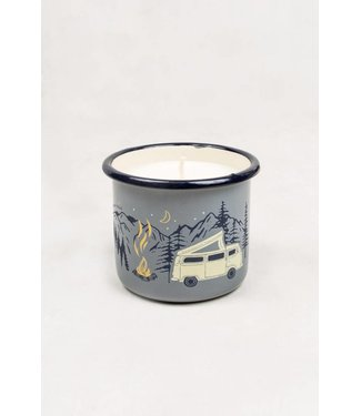 United By Blue Road Trip Enamel Candle Mug