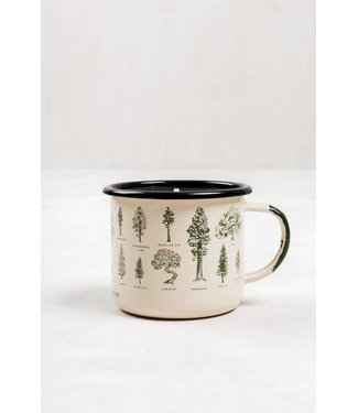 United By Blue Evergreen Enamel Steel Mug Candle
