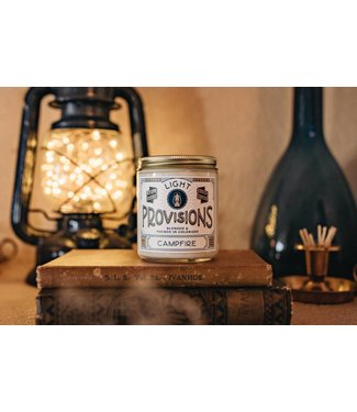 Light Provisions 8 oz Campfire Candle