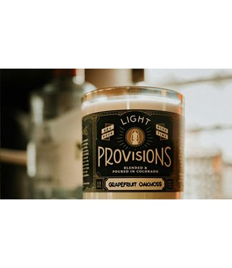 Light Provisions 12 oz Grapefruit Oakmoss Candle