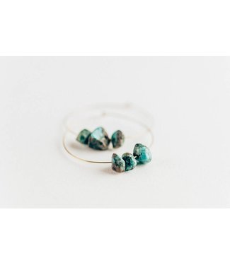 Townsend Collective Turquoise Nugget Hoops
