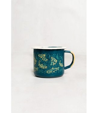 United By Blue Upstream Enamel Mug - Teal