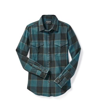 Filson Scout Shirt - W - Teal/Black/Gold