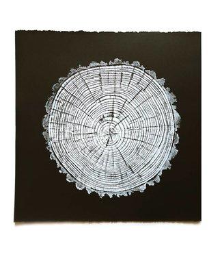 HVRNT American Elm Woodcut Print - Black Paper