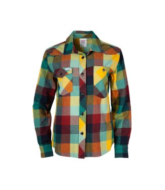 Topo Designs Work Shirt - Women's - Mustard/Glacier