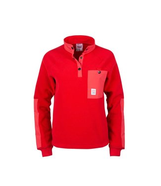 Topo Designs Mountain Fleece - Wmn's - Red