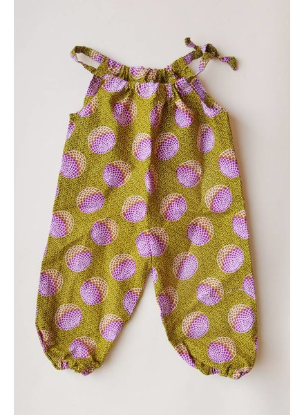 INDEGO AFRICA Indego Africa Romper Purple & Green
