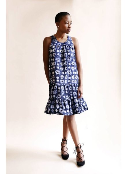 INDEGO AFRICA Indego Africa Ruffle Dress