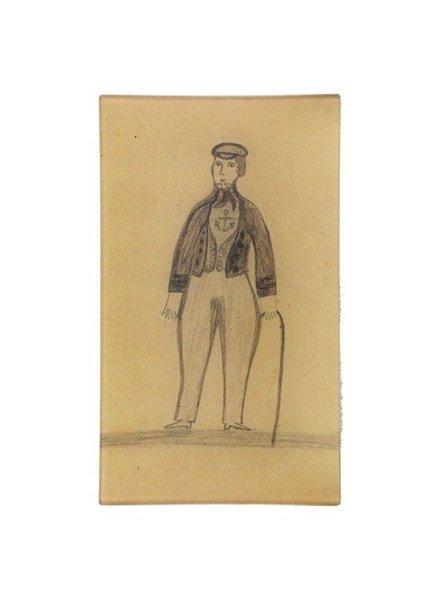 JOHN DERIAN John Derian Bearded Sailor Rectangular Tray
