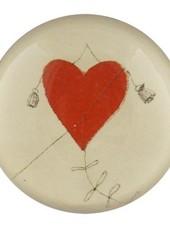 JOHN DERIAN John Derian Red Heart Kite Dome Paperweight
