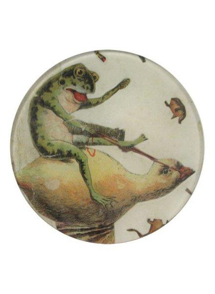 JOHN DERIAN John Derian Riding Frog Round Plate