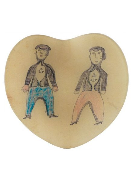 JOHN DERIAN John Derian Sailor Friends Heart Dish
