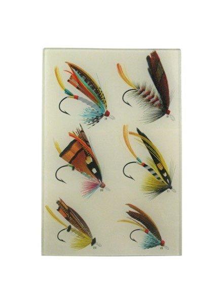 JOHN DERIAN John Derian Salmon Flies #18 Rectangular Tray