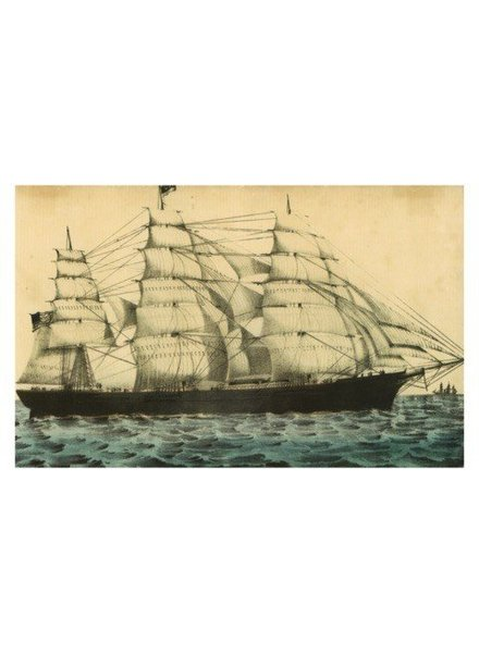 JOHN DERIAN John Derian Ship Postcard