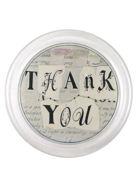 "JOHN DERIAN John Derian Thank You 6"" Coaster"