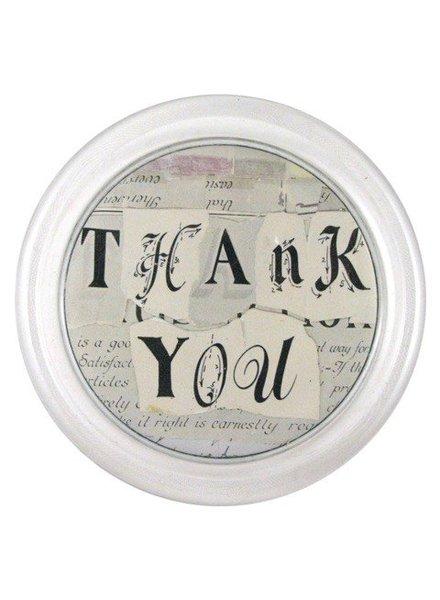 "JOHN DERIAN John Derian Thank You 6"" Coaster"