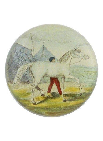 JOHN DERIAN John Derian White Horse Dome Paperweight