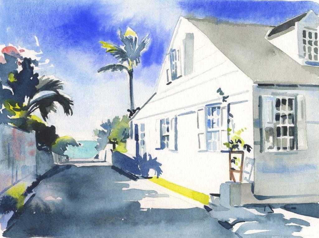 CHRISSHARP Chris Sharp Original Watercolor #10