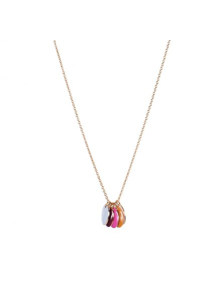 TITLEE Little Titlee Brooklyn Necklace in Fuchsia