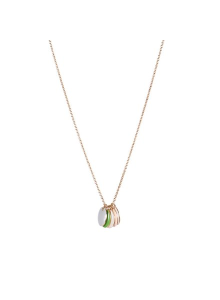 TITLEE Little Titlee Brooklyn Necklace in Vert Pomme
