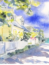 CHRISSHARP Chris Sharp Original Watercolor #16
