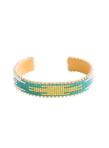 ETKIE Etkie Fiona Glass Cuff Small
