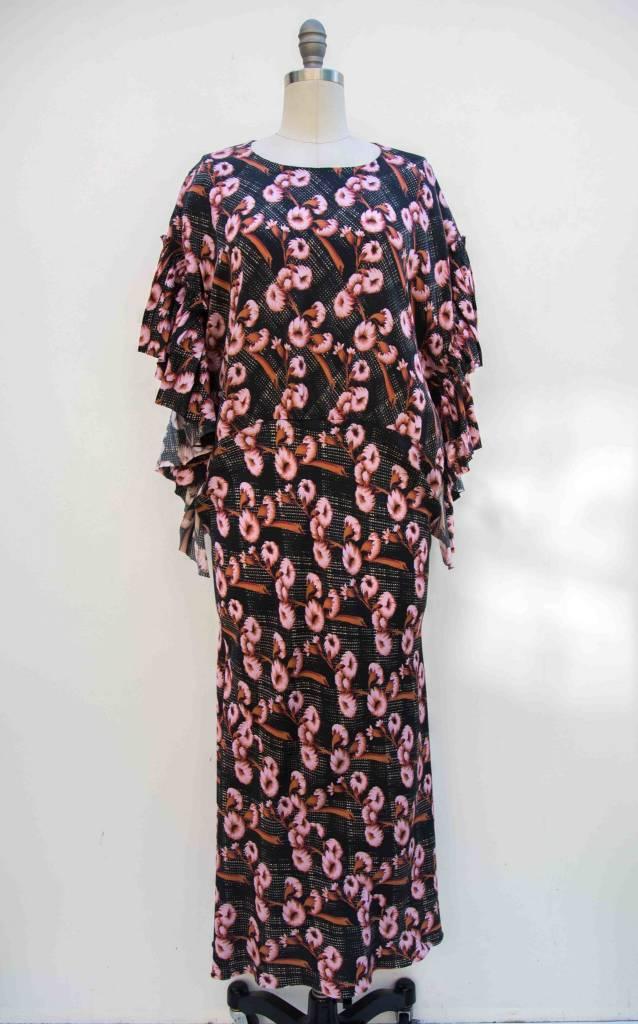 A DETACHER A Detacher Bell Dress Pink Floral Multi  M/L